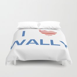 I Heart Wally Duvet Cover