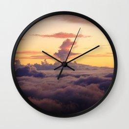 HALEAKALA'S CLOUDS Wall Clock