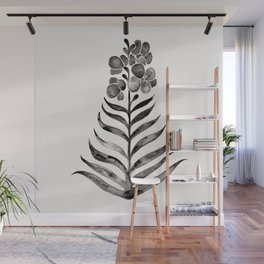 Blooming Black Orchid Wall Mural
