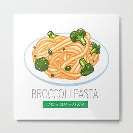 Broccoli pasta Metal Print