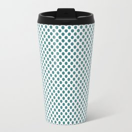 Teal Polka Dots Travel Mug