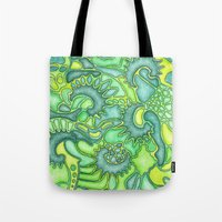 jungle Tote Bags featuring Jungle by art by becera