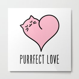 Cat heart Metal Print