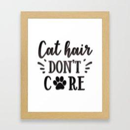 Cat Humor Framed Art Print
