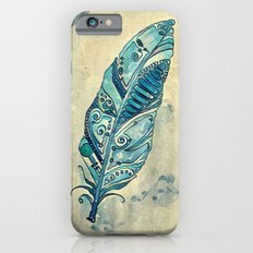 Space Feather in Blue Slim Case iPhone 6s
