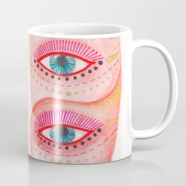 girl with the most beautiful eyes mask portrait Coffee Mug