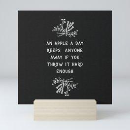 An Apple A Day BW Mini Art Print