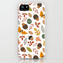 Hello Fall Pattern iPhone Case
