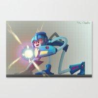 megaman Canvas Prints featuring Megaman! by RoboChandler