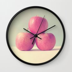 Apple Trio Wall Clock