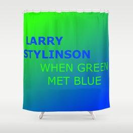 Larry Stylinson. When green met blue. Shower Curtain