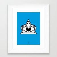 third eye Framed Art Prints featuring Third Eye by Diogo Rueda