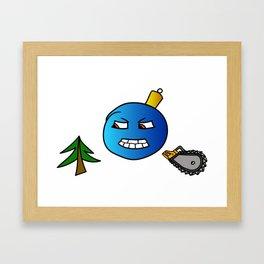 Evil Christmas series Christmas tree toy Framed Art Print