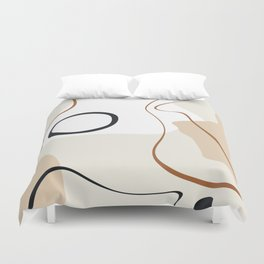 abstract minimal 15 Duvet Cover