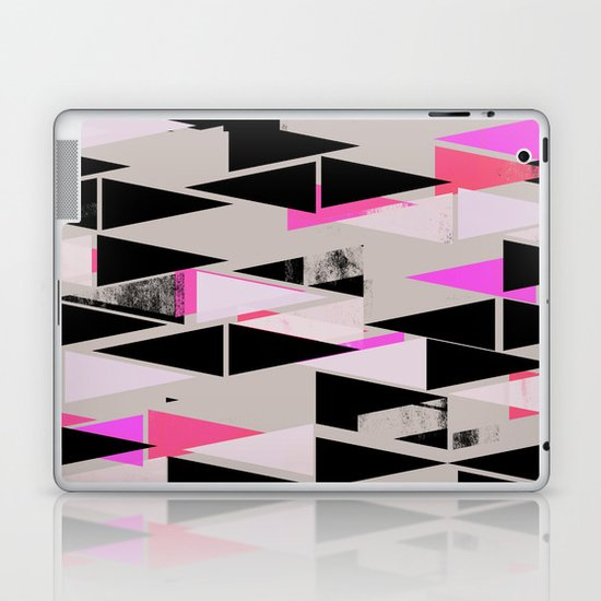 Pink Triangles II Laptop & iPad Skin