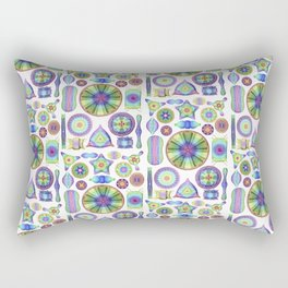 Ernst Haeckel Rainbow Diatoms Rectangular Pillow