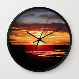 Ground Level Sunset Wall Clock