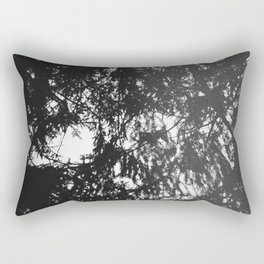 Snails eye view of the forest canopy Rectangular Pillow