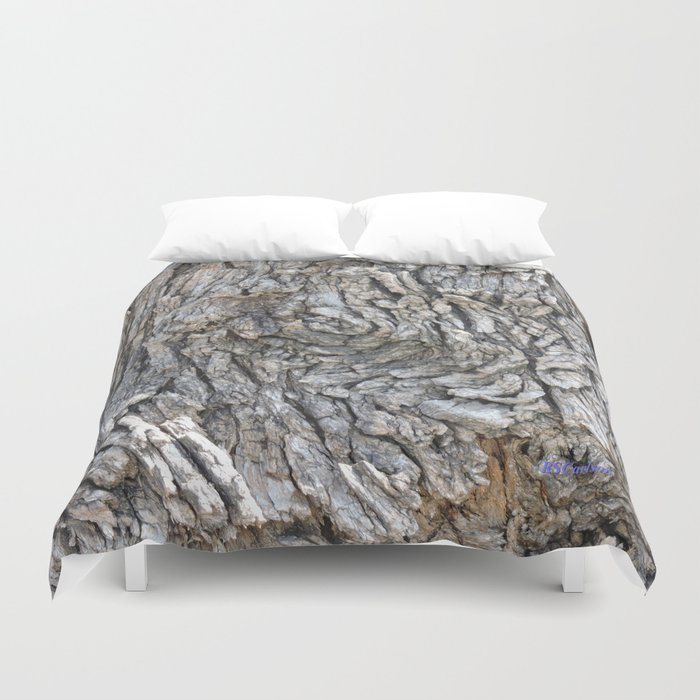 TEXTURES -- Blue Elderberry Bark Duvet Cover