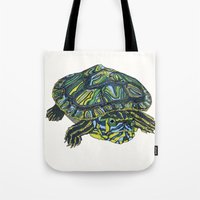 turtle Tote Bags featuring Turtle by Aina Serratosa