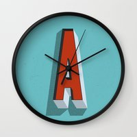 letter Wall Clocks featuring Letter A by INDUR