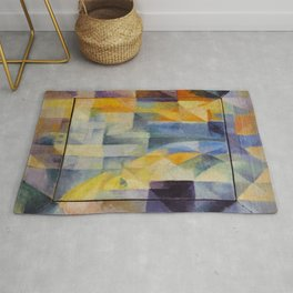 """Robert Delaunay """"Simultaneous Windows onto the City"""" (1st Part, 2nd Motif, 1st Replica) Rug"""