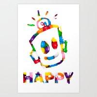 HAPPY GUMBALLS Art Print