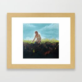The Sewing Framed Art Print