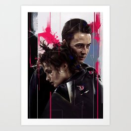 Jack and Marla Art Print