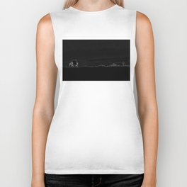 Horizon in Thin Lines Biker Tank