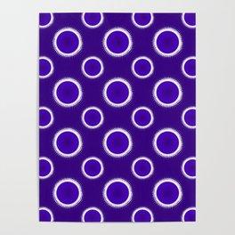 Indigo Eclipse Rings Poster