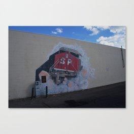 Southern Pacific Mural in Lodi, CA Canvas Print