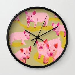 Pigs Wall Clock