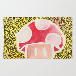 One Upper Mushroom zendoodle Rug