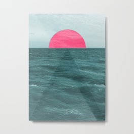 Magenta Sunset Metal Print