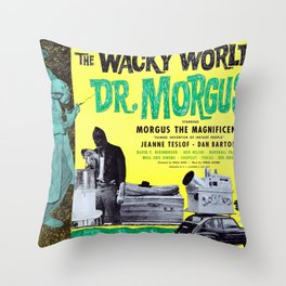 The Wacky World of Dr. Morgus Throw Pillow