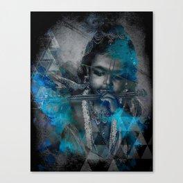 Krishna The mischievous one - The Hindu God Canvas Print
