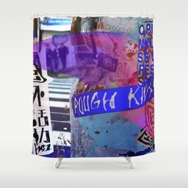 Tokyo tags Shower Curtain