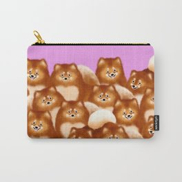 Pomeranians (Lilac Background) Carry-All Pouch