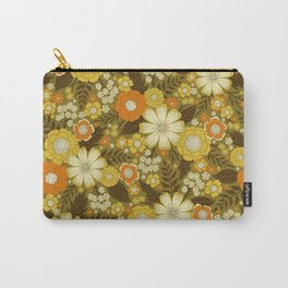 1970s Retro/Vintage Floral Pattern Carry-All Pouch
