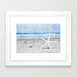 Starfish By The Seashore  Framed Art Print