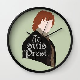 Jamie Fraser Quote Wall Clock