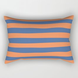 Blue Orange Stripes_Uneven Rectangular Pillow