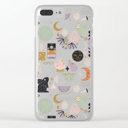 Lunar Pattern: Blue Moon Clear iPhone Case