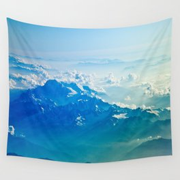 Aerial Mountain Wall Tapestry
