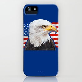 Patriotic Eagle 4th of July American Flag iPhone Case
