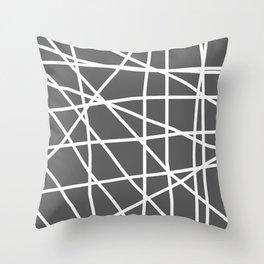 Doodle (White & Grey) Throw Pillow