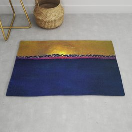 Ocean Blue & Sunset (High Tide) landscape painting by Felix Vallotton Rug