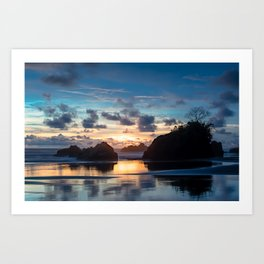 Epic Sunset in El Choco, Colombia Art Print
