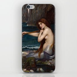 Mermaid by John William Waterhouse, 1900 iPhone Skin
